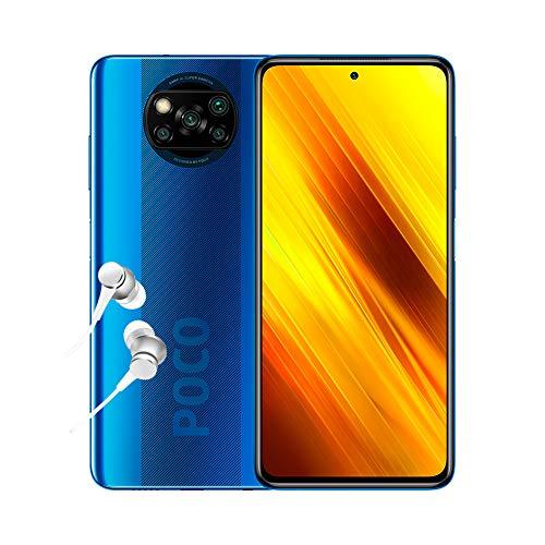 "POCO X3 NFC - Smartphone 6+128GB, 6,67"" FHD+ Punch-hole Display, Snapdragon 732G, 64MP AI Penta-Camera, 5160mAh, Cobalt Blue (Official UK Version + 2 Years Warranty)"