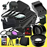 Two Canon EOS 70D DSLR Camera with 18-55mm STM f/3.5-5.6 Lens LP-E6 Lithium Ion Replacement Battery and External Rapid Charger + 8GB SDHC Class 10 Memory Card + 58mm 3 Piece Filter Kit + Full Size Tripod + 58mm Macro Close Up Kit + 58mm 2x Telephoto Lens