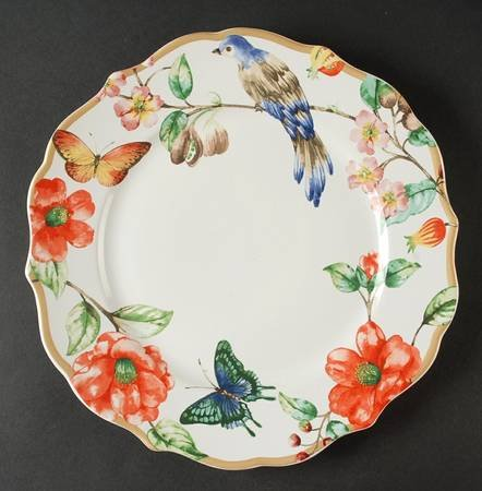 222 Fifth Ambri Dinner Plate Set of Four 10 3/4
