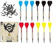SHOT TAKER CO. EST. 2017 Soft Tip Darts Set |12 pc Bar Darts | 50 Extra Black 2BA Tips | 3 of Each Colour| Per