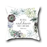 Robert Beautifulcushion Throw Pillowcase Pillow Cover Christian Bible Verse Throw Pillow Cases Arrow 20*30