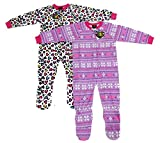 Just Love Footed Pajamas / Blanket Sleepers (Pack of 2),Heart Prints,2T