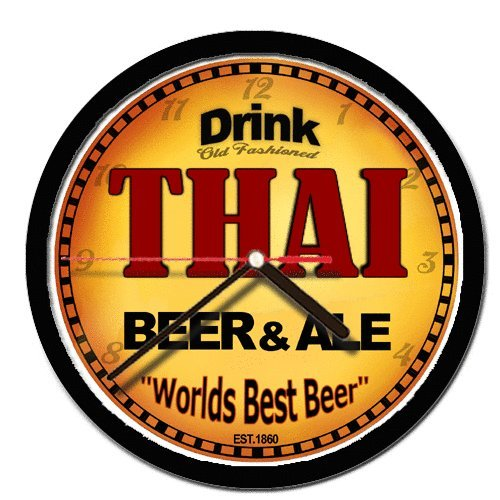 THAI beer and ale cerveza wall clock by Goldenoldiesclocks