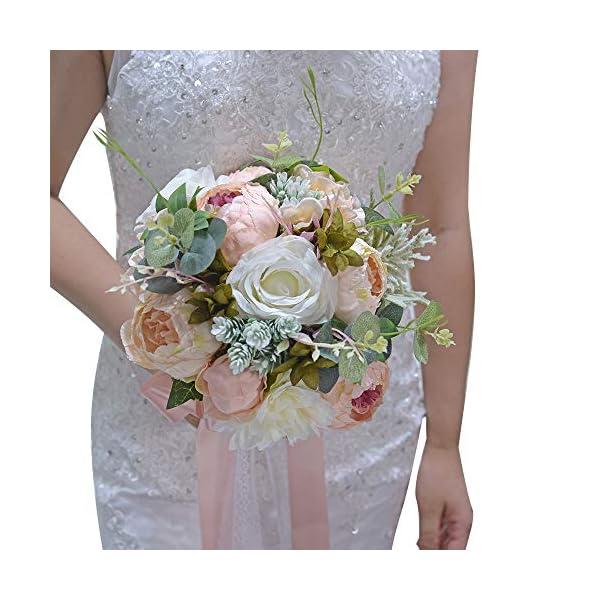 ETERNAL ANGEL Wedding Romantic Bouquet Bride Bridal Bouquets Bridesmaid Bouquet Artificial Flowers Valentine's Day Confession Party Church