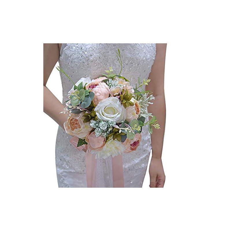 silk flower arrangements wedding romantic bouquet bride bridal bouquets bridesmaid bouquet artificial flowers valentine's day confession party church