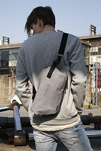7 Mochila Casual Ipad Ash Sling Las Hombres Hombro Crossbody Mujeres Bolso De Bag Cai 08807 Bolsa Light 9 Viaje Pecho Escuela Grey Black Para Deportes wnFPOxvxq