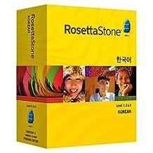 Rosetta Stone Korean Level 1, 2 & 3 Set with Audio Companion