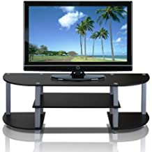 Furinno 11058BK/GY Turn-S-Tube Wide TV Entertainment Center, Black/Grey