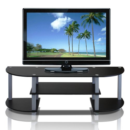 urn-S-Tube Wide TV Entertainment Center, Black/Grey (Tube Green Screen)