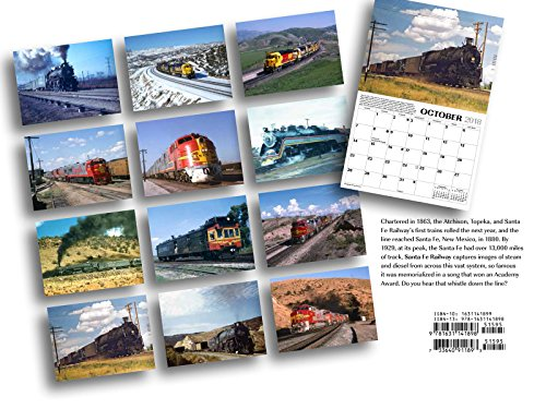 Santa Fe Railway 2018 Calendar (Classic Rail Images)