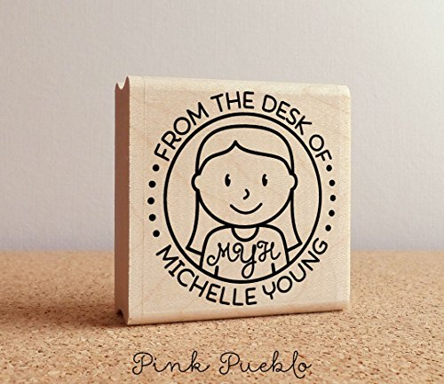 Personalized Monogram Stamp, From the Desk of Stamp, Custom Stamp for Monogram (Custom Stationery)