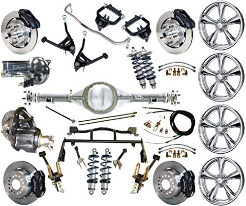 R & 4-LINK SYSTEM, WITH CURRIE REAR END,BILLET SPECIALTIES WHEELS,CONTROL ARMS,FRONT SWAY BAR & WILWOOD DISC BRAKE KIT,12