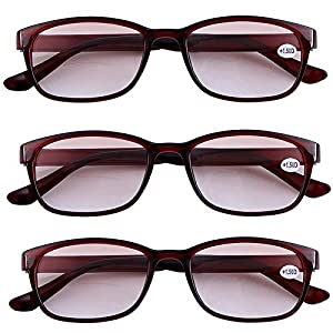 Southern Seas 3x Tinted Brown +3.00 Reading Glasses Mens Womens with Line Bifocals Spectacles Eyewear