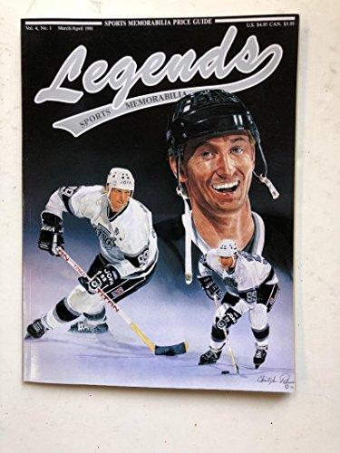 (1991 Legends Magazine Price Guide Wayne Gretzky Cover Vol. 4 No. 1 Hockey Card)