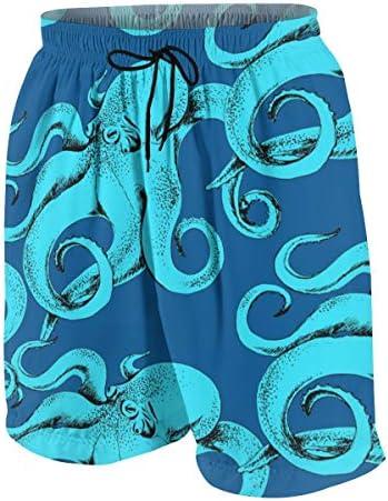 キッズ ビーチパンツ 青いタコ サーフパンツ 海パン 水着 海水パンツ ショートパンツ サーフトランクス スポーツパンツ ジュニア 半ズボン ファッション 人気 おしゃれ 子供 青少年 ボーイズ 水陸両用
