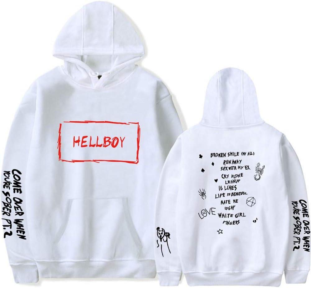 AWKingbf Unisex Sudadera Lil Pagehood Hellboy Print Pullover ...