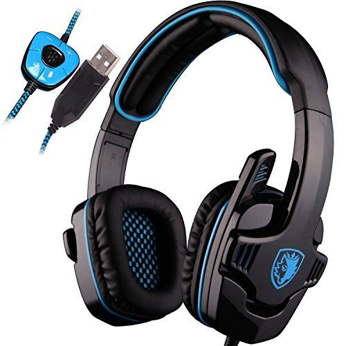 SADES SA901 Over Ear USB Wired 7.1 Surround Noise Cancelling PC Gaming...