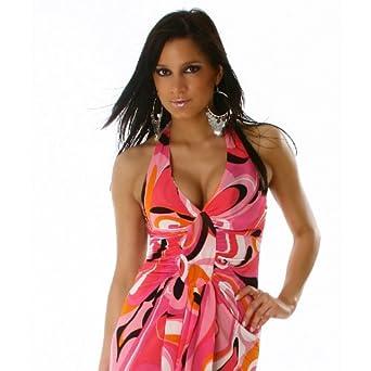 Maxi Sommerkleid Edel Hippie Style Kleid Gr. 38  Amazon.de  Bekleidung 1e961530b4