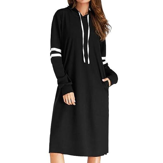 5c1de0b1abdb Blusenkleid Damen Bekleidung Pullover, ZIYOU Frauen Lange Ärmel Hoodie  T-shirt Kleider Sweatshirt Kapuzenpullover
