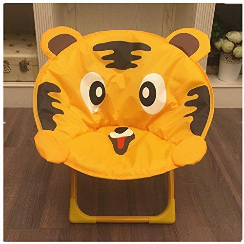 (Children's Cartoon Chair, Baby Folding Dining Chair, Portable Beach Chair (Yellow Tiger))