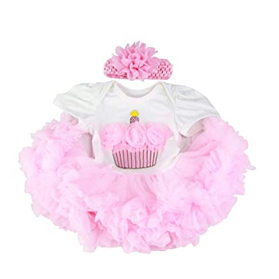 HUADOLL Reborn Baby Girl Clothing Pink Tutu Dress Outfit for 20- 23 Inch Reborn Doll Newborn Dolls Clothes: Toys & Games