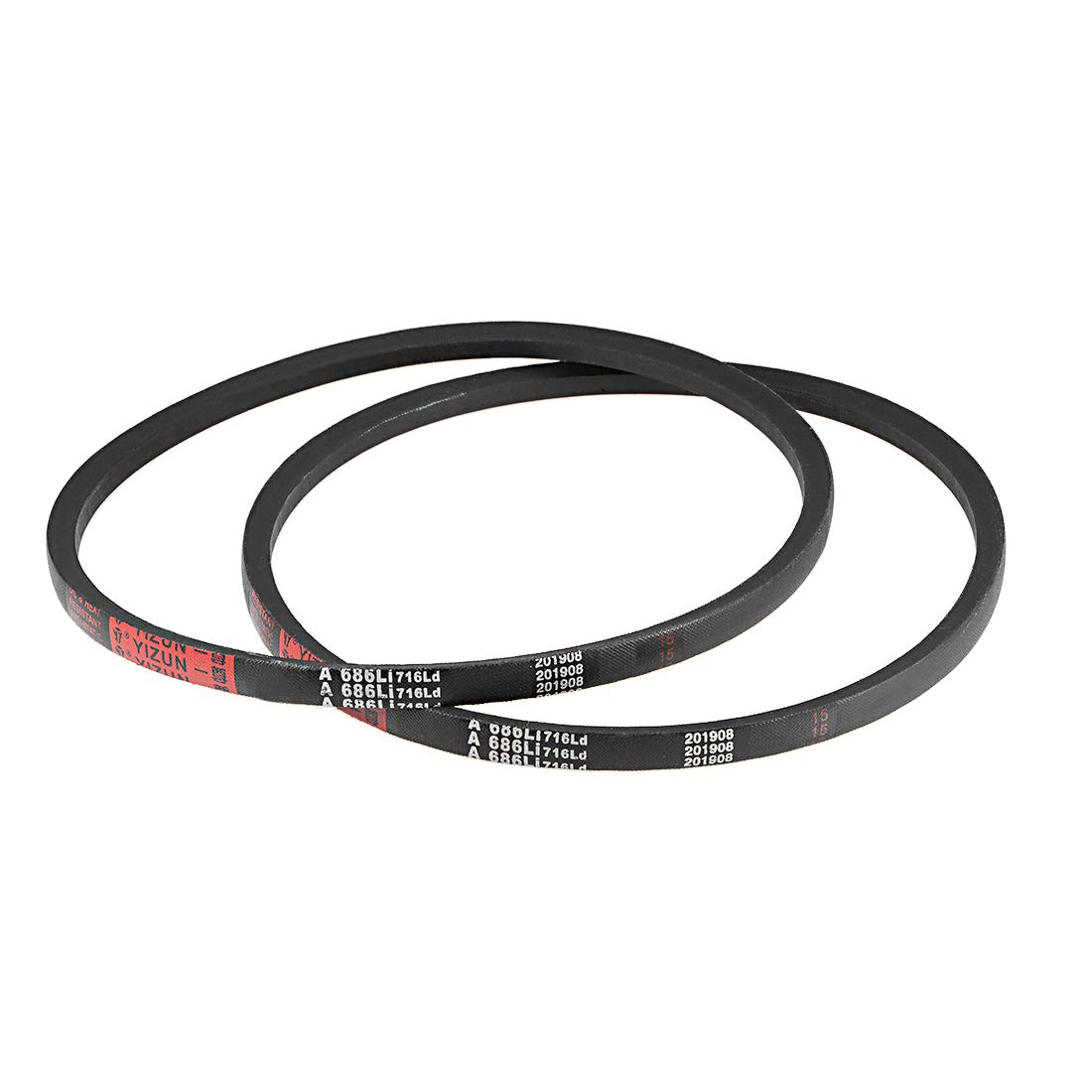 sourcing map A686//A27 V-Belts 27 Inner Girth A-Section Rubber Drive Belt 2pcs