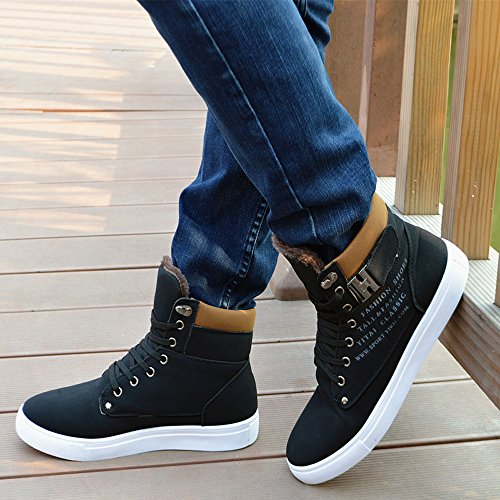 Altos Zapatos Sneakers Negro Hombres Toamen Zapatos 2018 para Casuales twpvq7