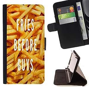 Dragon Case - FOR Samsung Galaxy Core Prime - fries before guys - Caja de la carpeta del caso en folio de cuero del tir¨®n de la cubierta protectora Shell
