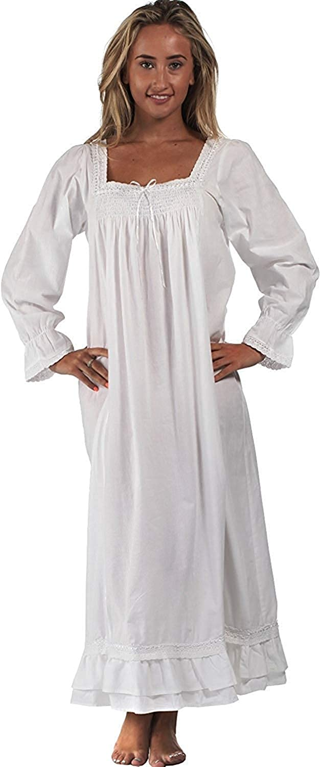 The 1 for U Martha Nightgown 100% Cotton Victorian Style - Sizes XS - 3X