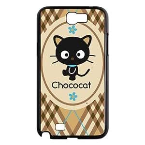 Samsung Galaxy N2 7100 Cell Phone Case Black Chococat Brown and Blue Plaid OJ489863