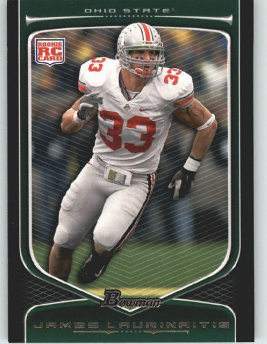 2009 Topps Draft Picks - James Laurinaitis RC - Ohio State (RC - Rookie Card) 2009 Bowman Draft Picks Football Cards #120 - NFL Trading Card