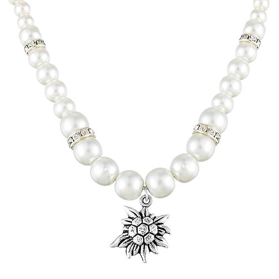Collar de perlas artificiales accesorio ideal para fiestas.