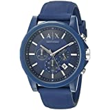 Armani Exchange Men's AX1327 Blue Silicone Watch