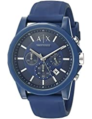 Armani Exchange Mens AX1327 Blue Silicone Watch