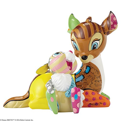 Disney by Britto Bambi with Thumper Stone Resin -