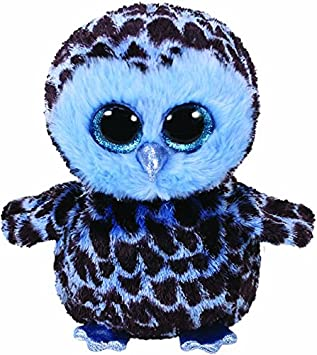 Ty Yago, Eule Blau/Schwarz 24cm Peluche búho, Color Azul (United Labels