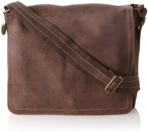 David King & Co. Full Flap Messenger Distressed, Cafe, One -