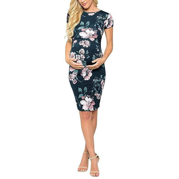 Vestidos de Mujer Ropa premamá Moda Floral Impresos Vestido de ...