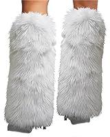 Rhode Island Novelty Rave Diva Costume White Sexy Furry Fuzzy Leg Warmers