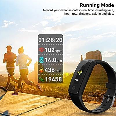 RIVERSONG Fitness Activity Tracker Heart Rate - Smart Band Health Sleep Tracking Blood Pressure Monitor Wristband Pedometer Bracelet Kids Women Men
