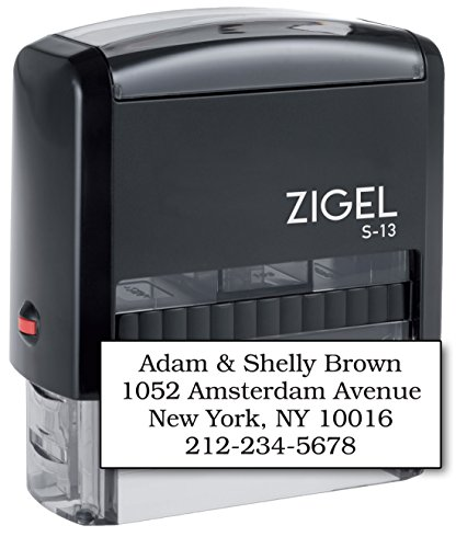 ZIGEL S-13 Large Text Stamp 7/8