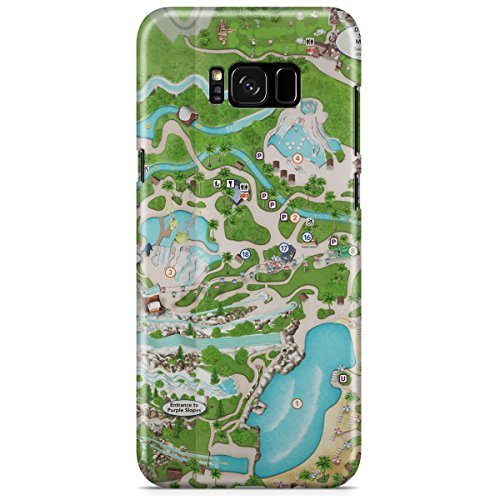 Queen of Cases Hard Shell Phone Case - Blizzard Beach - Blizzard Map Beach Disney