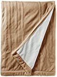 Woolrich WR54-1747 Heated Plush To Berber Blanket Twin Tan,Twin