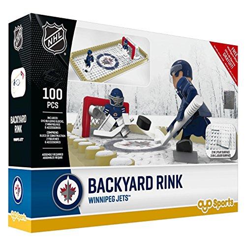 Rink Jet (NHL Winnipeg Jets Backyard Rink Set, Small, Black)