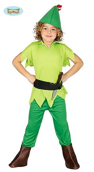Guirca - Disfraz de Arciere Peter Pan, Color Verde, 3/4 años ...