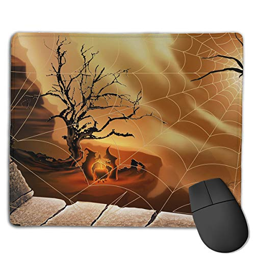 (Miniisoul Non-Slip Rubber Base Mousepad for Laptop Computer PC Personality Desings Gaming Mouse Pad Mat (Spider Web Funny Pattern, 8.66 X 7.08)