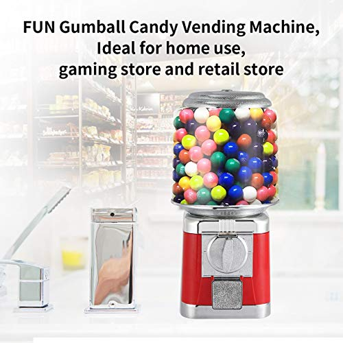 Gumball Machine Metal Gumball Candy Vending Machine Removable Canisters Capsule Bouncy Ball Gumball Vending Dispenser Machine by Dyna-Living (Image #4)