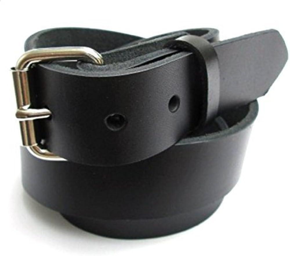 Big & Tall Mens Heavy Duty Black Leather Belt 1 1/4