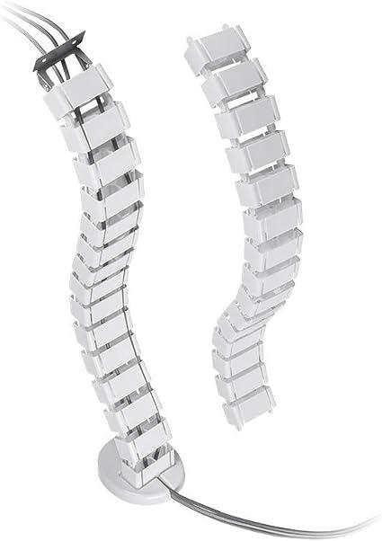 VIVO Vertebrae Cable Management Kit Height Adjustable Desk Quad Entry Wire Organizer DESK-AC01C
