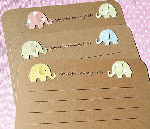 Advice-for-Mommy-To-Be-Cards-Baby-Shower-Games-Twins-Baby-Shower-Wish-Cards-Kraft-Wish-Cards